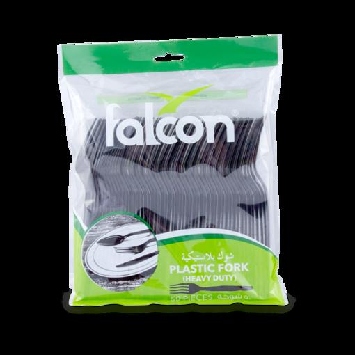 Picture of falcon black plastic fork - hd