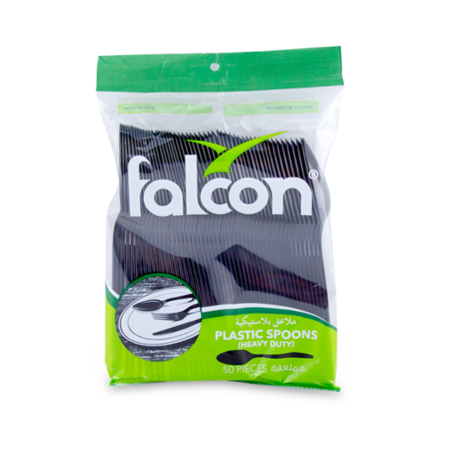 Picture of falcon black plastic spoon - hd