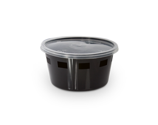Picture of black microwave cont. round 250 cc w\lid