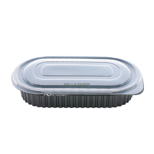 Picture of Black Microwave Food Countiner With Lid 10 Pcs