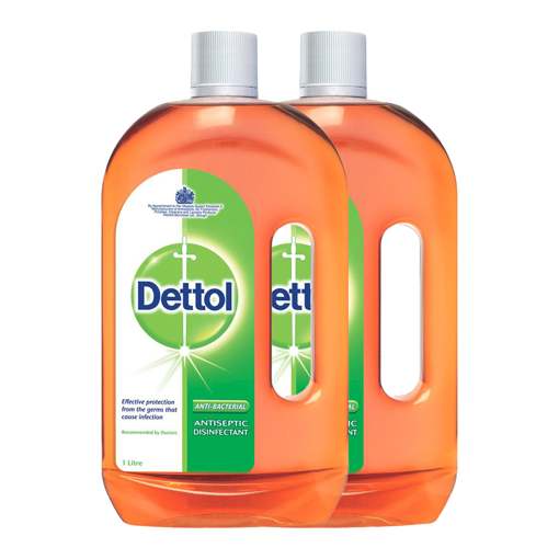 Picture of Dettol Antiseptic and Disinfectant 1 liter, 2 pieces