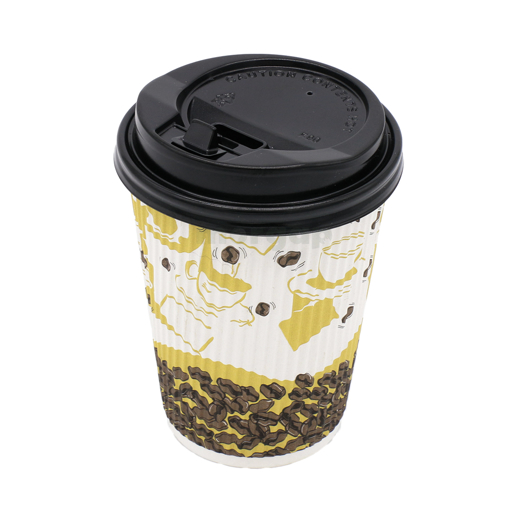 Picture of Paper Cup 12 oz With Plastic Lid 25 Pcs