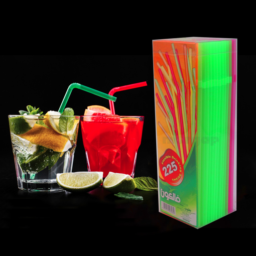 Picture of Plastic Straw 5mm Fluorescent 225 Pcs