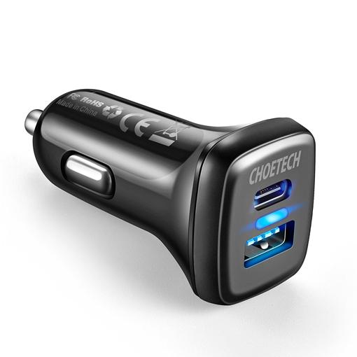 صورة Choetech Dual USB Car Charger Quick Charge 3.0