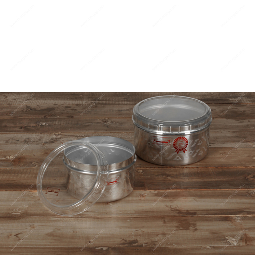 Picture of DECORATED POLISHED HIGH CONTAINER W/TRANS. UNBREAKABLE COVER