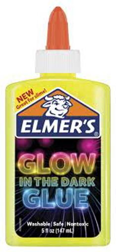 صورة غراء سائل يلمع في الظلام من إيلمر، رائع في صنع عجين السلايم، قابل للغسل، وزن  142 جرامًا