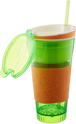 Picture of Snackeez Plastic 2 in 1 Snack & Drink Cup 25 CM