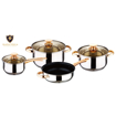 Picture of KAISA VILLA W-2001 Best Quality Set of 7 stainless pot & pan set(copper col/body&cover)