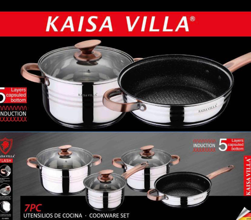Picture of Kaisa Villa 7 Piece Stainless Steel Induction Cookware Set