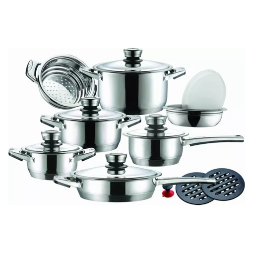 Picture of German Design Cookware Pot Sets 16 piece - Stainless Steel, 11 layer