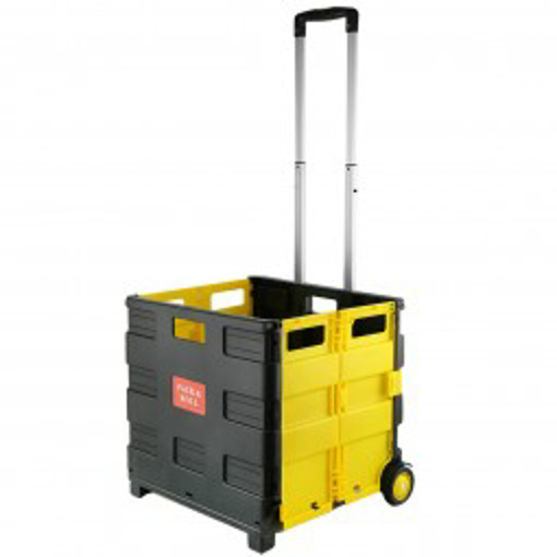 Picture of Plastic Foldable Shopping Cart with Wheels