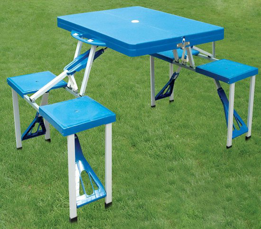 صورة طاولة نزهة قابلة للطي بحجم تقريبي.  84x64 سم