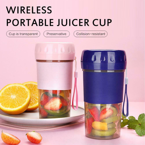 Picture of Mini Portable Juicer Cup Electric Fruit Mixer USB Juice Blender 300 ML