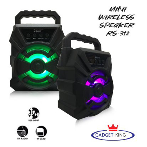 Picture of Portable 3 inch Led Speaker RS-312 Wireless Speaker with USB/FM/AUX