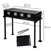 Picture of Metal Fordable BBQ Grill with Cook Plate
