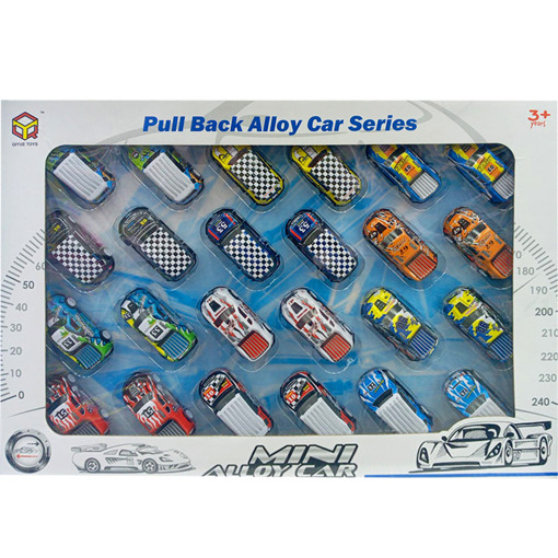 Picture of pull back alloy car series toy 24 pcs