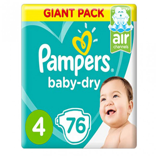 Picture of Pampers Diapers 76 No. 4 Active & Vital