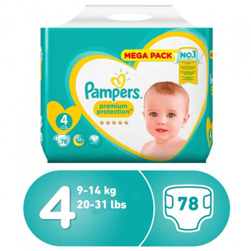 Picture of pampers 4 years 78 pieces