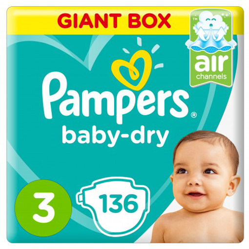 Picture of pampers 3 years 136 pieces