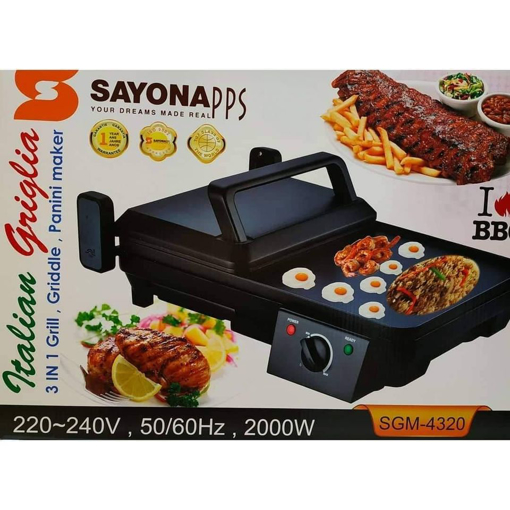 Picture of 3 IN 1 GRILL,GRIDDLE,PANINI MAKER  220-240V,50/60HZ,2000W