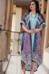 Picture of Two piece embroidery bisht with lulu