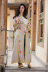 Picture of Embroidered long gilet with belt