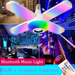 Picture of Colorful LED light bulb and loudspeaker