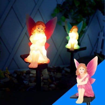 Picture of luminous night statue solar power